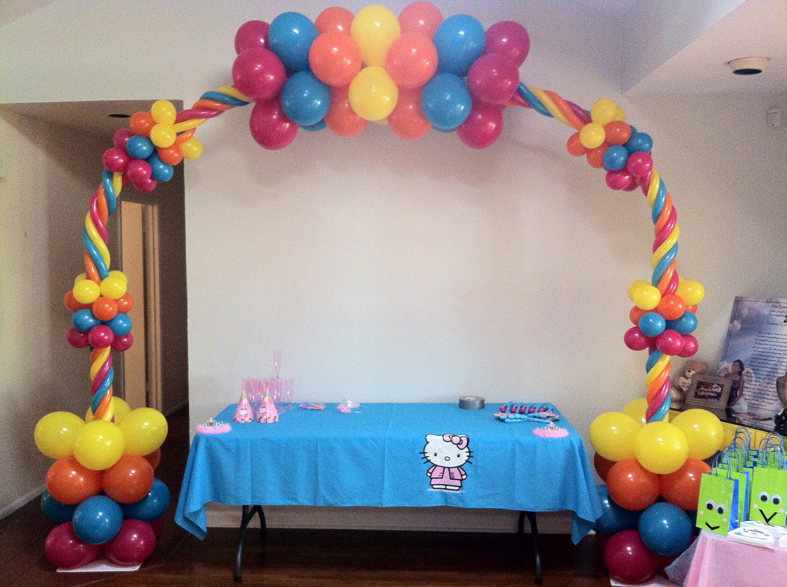 Wedding balloon arch for Balloon decoration instructions