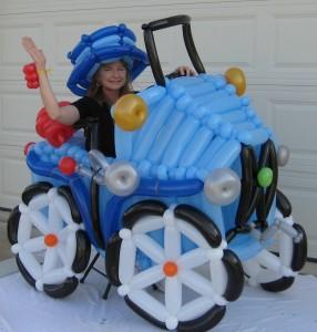 balloon decoration - balloon car