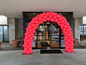 balloon decorator- balloon arch; health care event
