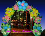 balloon decor - balloon arch with flowers