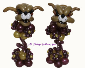Balloon decor-balloon centerpiece: balloon bulldog centerpiece