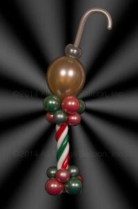 balloon decorator: Centerpiece - Christmas Ornament