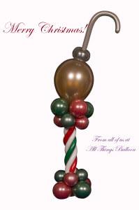 balloon decorator - balloon Christmas centerpiece