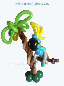 balloon artist - balloon parrot centerpiece