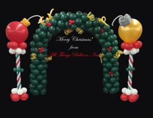 balloon decor - Christmas Arch, With Ornament Columns