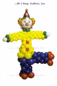balloon decorator - giant balloon clown column