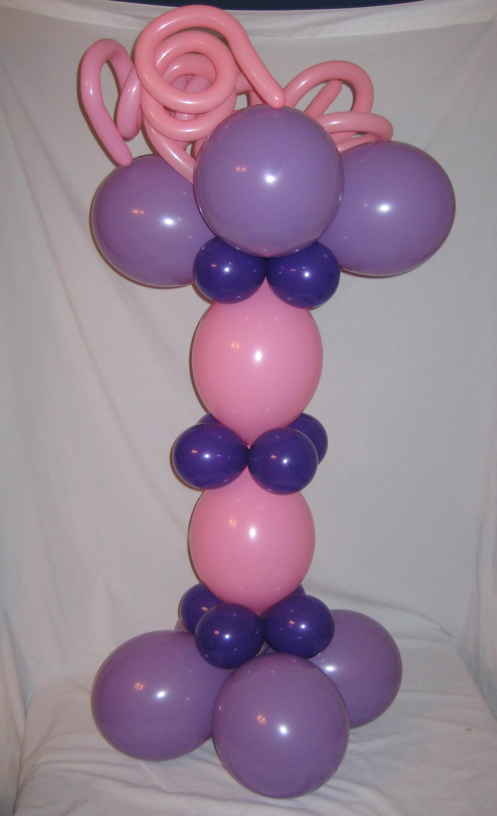 Columns balloon decor san antonio for Balloon column decoration