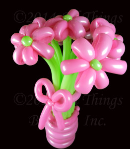 Balloon artist - balloon flower bouquet