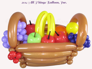 balloon decor - balloon fruit basket for corporate delivery
