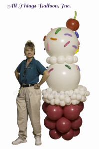 balloon decor - Ice cream column