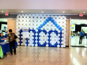 Balloon Wall - MCCI logo