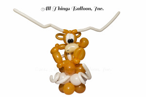 balloon decor: balloon UT Longhorn Centerpiece