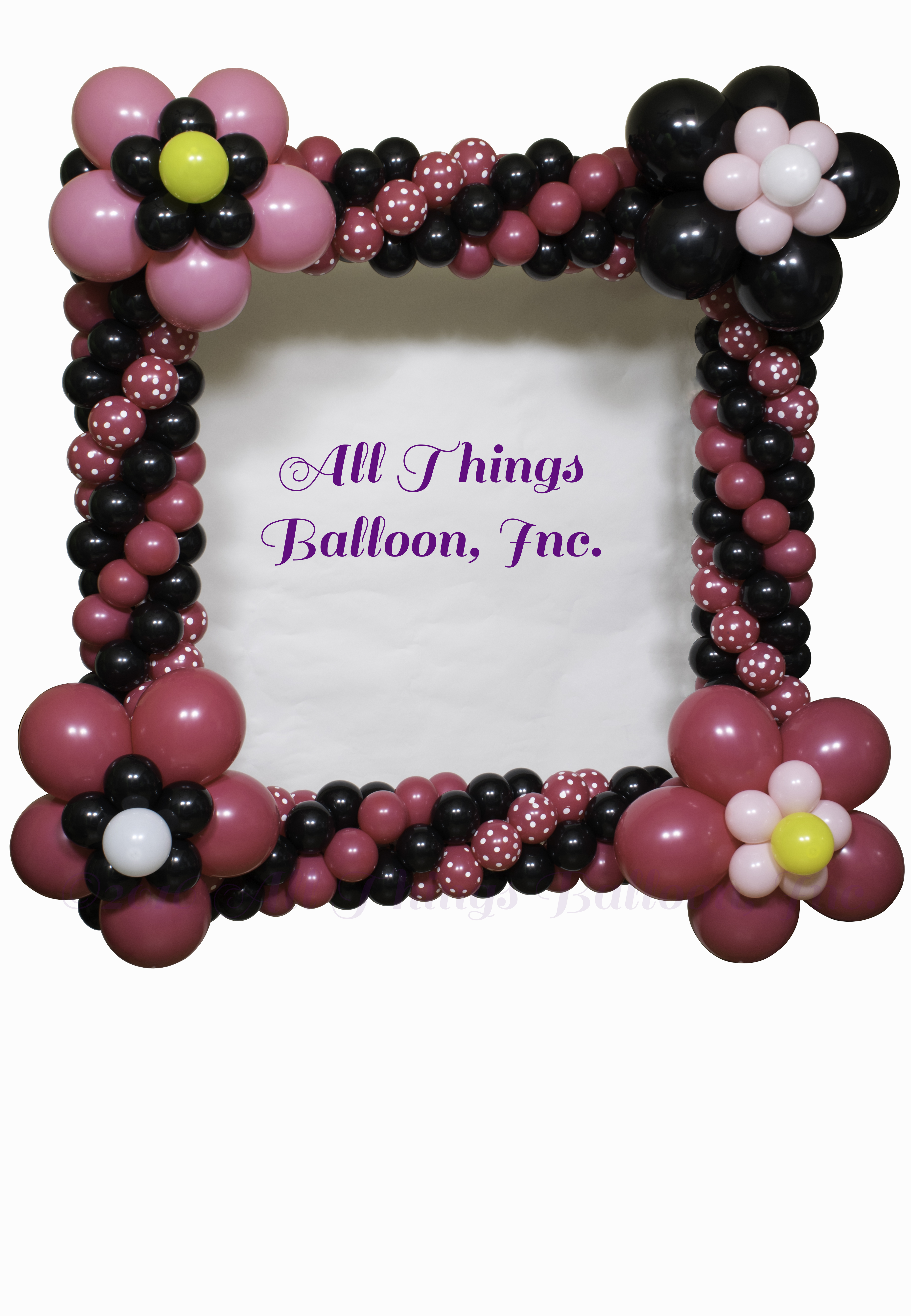 Minnie Photo Frame 1 - Balloon Decor San Antonio