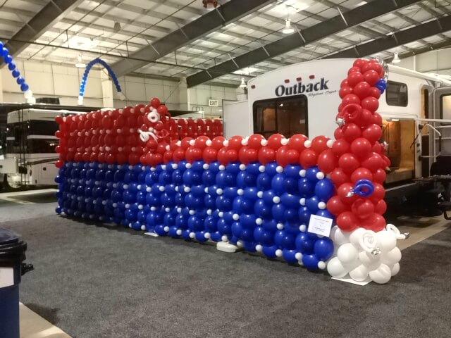 RV Show - Balloon Wall 2 - Balloon Decor San Antonio