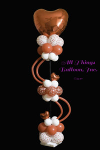 balloon decorator: balloon column; Valentine's day