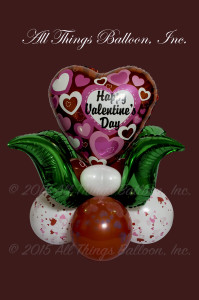 balloon decor - balloon Valentine's Day centerpiece