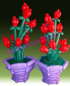 balloon artist - balloon flowers and vases