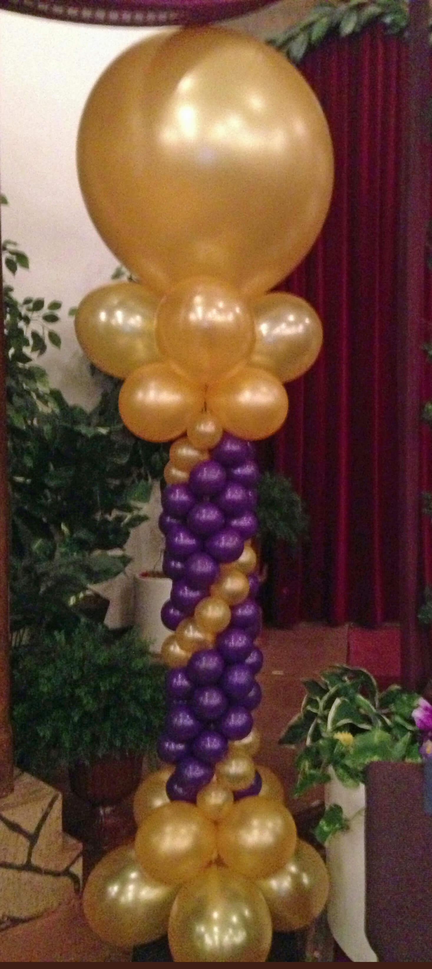 Balloon columns decor san antonio
