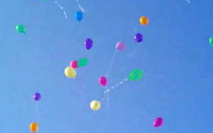 Balloon Decor - funeral release of helium balloons
