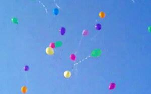 Balloon Decor - funeral release of helium balloons