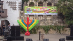 balloon decor: balloon Menorah at Arneson River Theater