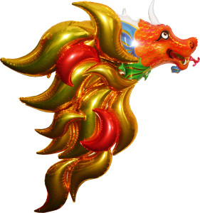 balloon decor: spectacular balloon foil Dragon
