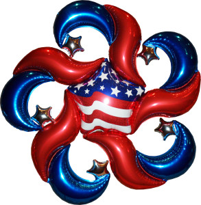 "balloon decor: ""Patriotic Pinwheel"""