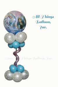 balloon decor; balloon centerpiece; Frozen theme