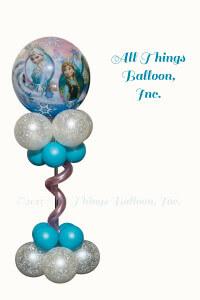 balloon decor; balloon centerpiece; Frozen theme