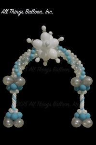 Balloon decor: balloon Snow Queen arch