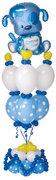 "balloon decor: ""It's a Boy"" Puppy Dog centerpiece"
