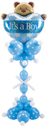 "balloon decor: ""It's a Boy"" Bear centerpiece for baby shower"