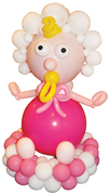 balloon decor: Baby Shower Balloon Baby