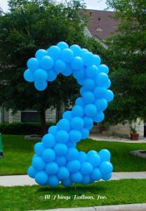 birthday decor - balloon #2 lawn number