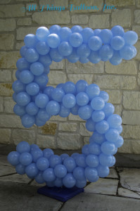 "balloon decor: balloon Number ""5"""