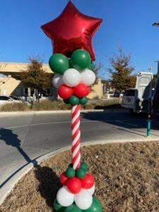 Balloon decor - balloon Christmas column - lamp post style